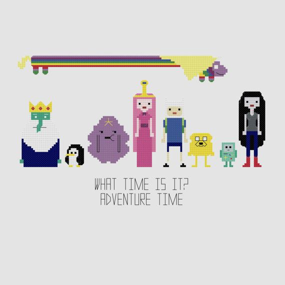 Cross Stitch Pattern - Adventure Time//Craft Supplies//PDF Pattern ...