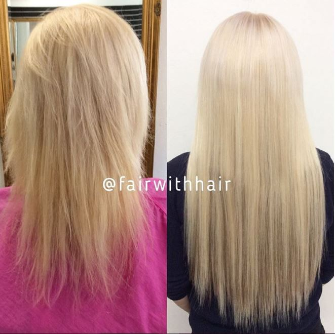 Before And After Sew In Hair Extensions With Blond Indian Hair