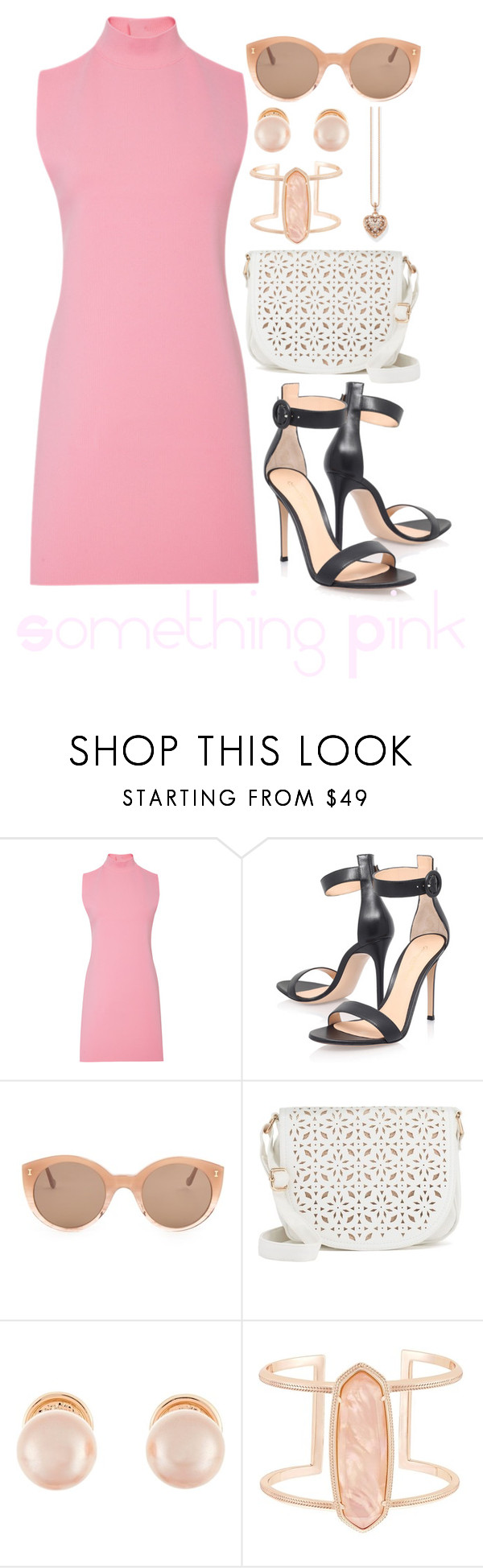 """""""Something Pink"""" by megan-walz21 ❤ liked on Polyvore featuring Marni, Gianvito Rossi, Illesteva, Under One Sky, Kenneth Jay Lane, Kendra Scott and Thomas Sabo"""