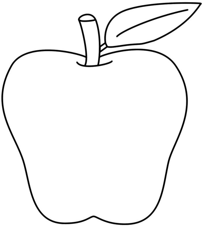 Printable Apple Healthy Food Coloring Pages  Fruit Coloring Pages