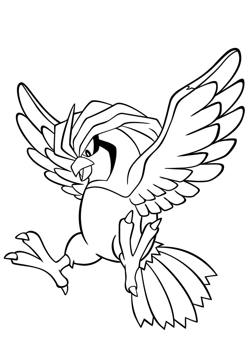 017 Pidgeotto Pokemon Coloring Pages Coloring Pages Pokemon