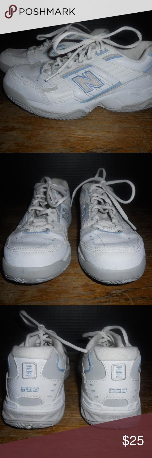 diagonal muelle Comida sana  New Balance 653 Women's Athletic Shoes Size 7 New Balance 653 Women's Court  Sneaker Shoes White Blue Size… | Womens athletic shoes, New balance shoes,  White sneaker
