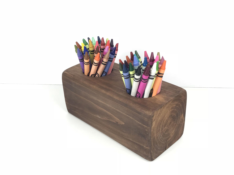 Crayon Holder, Coloring Table Organizer, Crayon Storage, Craft ...
