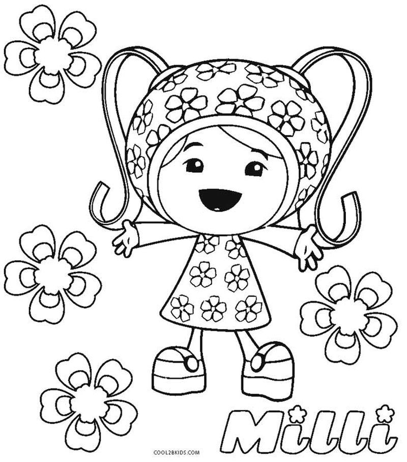 Team Umizoomi Coloring Pages To Print Team Umizoomi Coloring Pages Cartoon Coloring Pages