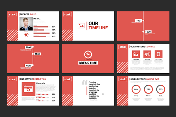 Stark  Powerpoint Template On Behance  Styd