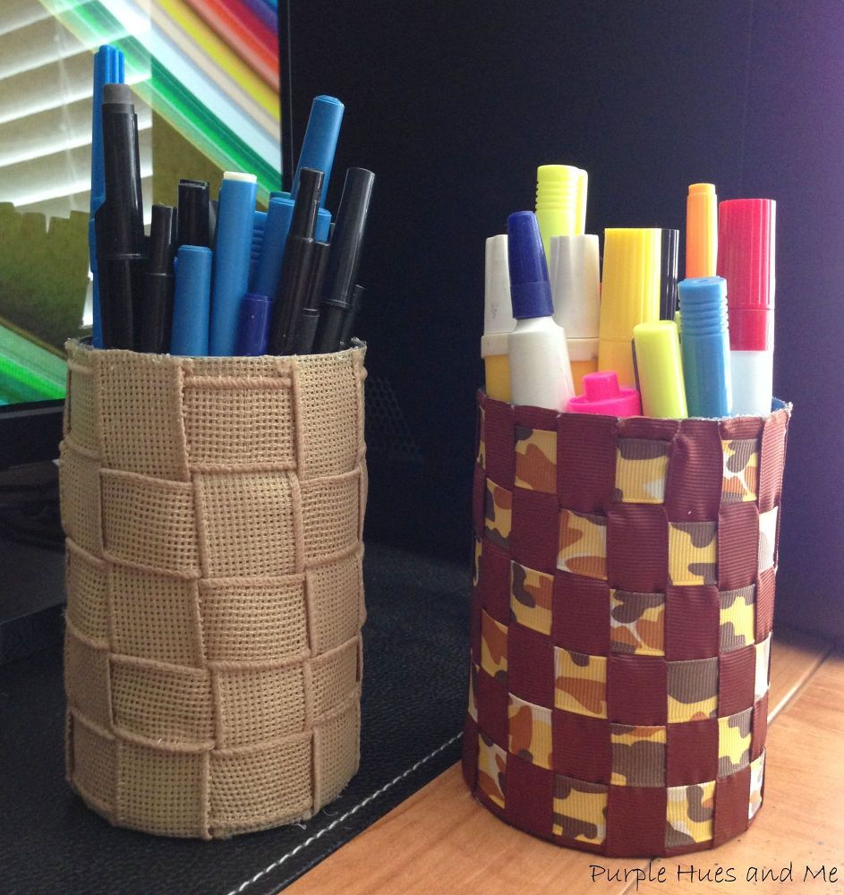 Make Pen And Pencil Holders From Recycled
