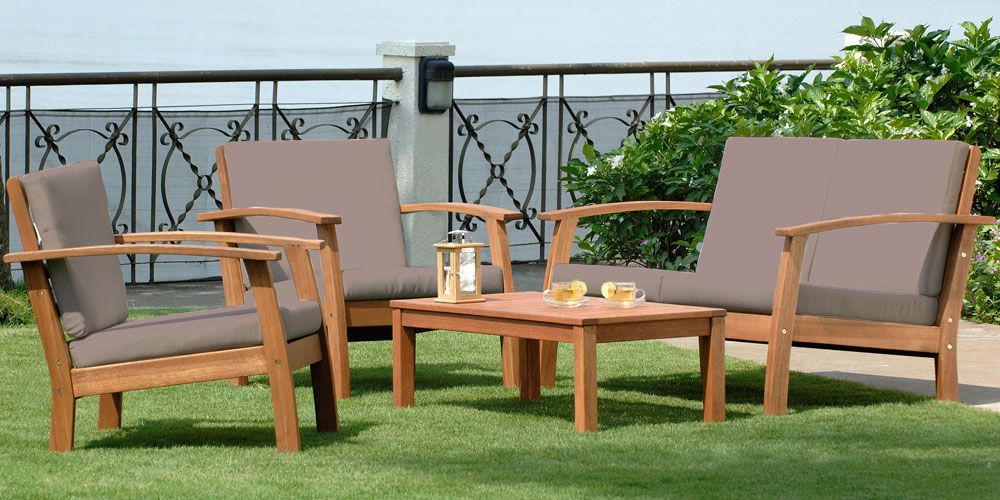 Salon bas en bois EIVISSA | salon de jardin | Furniture et Salons