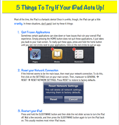 5 Things to Try When your iPad Acts Up ~ Educational Technology and Mobile Learning