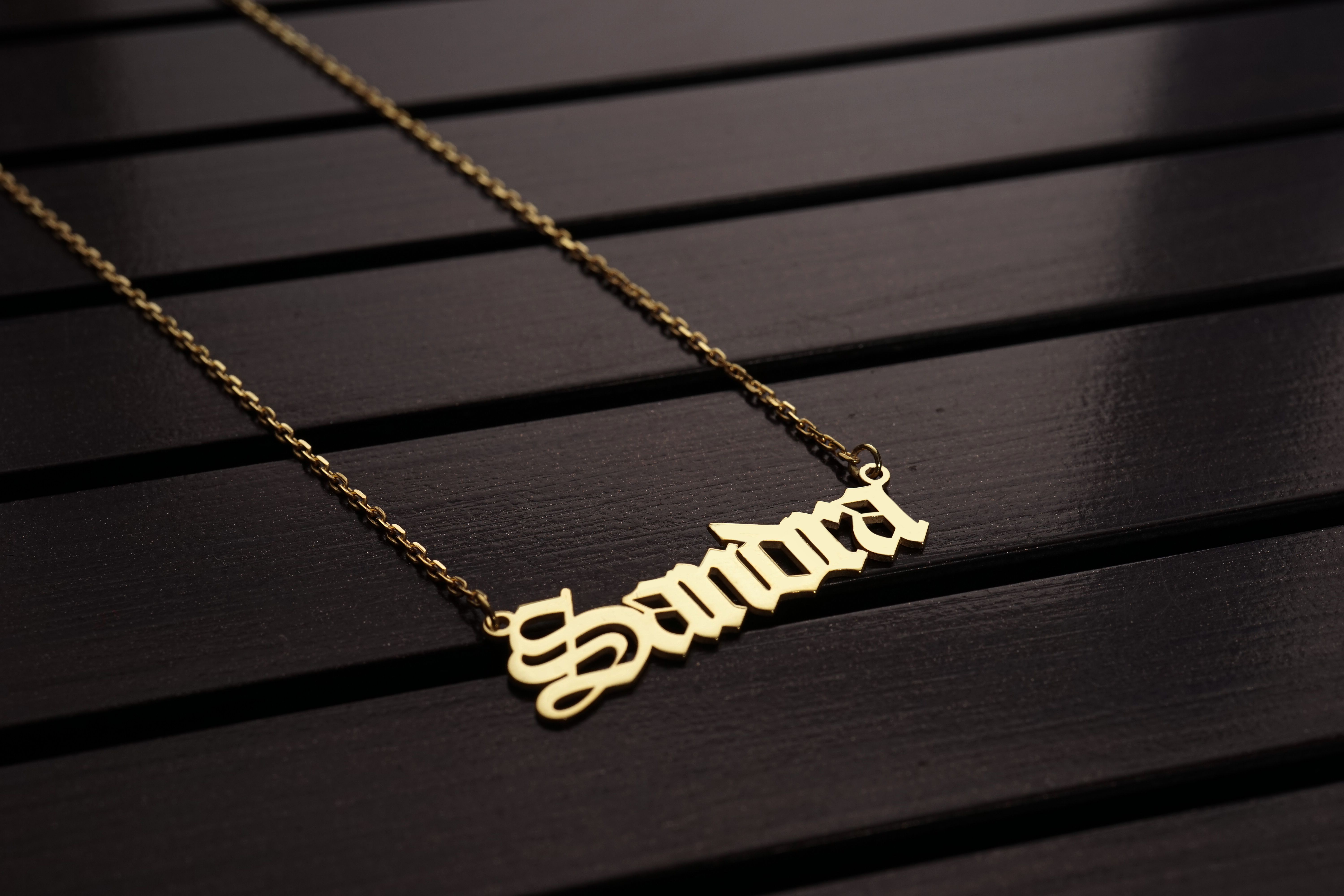 925 Sterling Silver Handmade Name Necklace Personalized Name