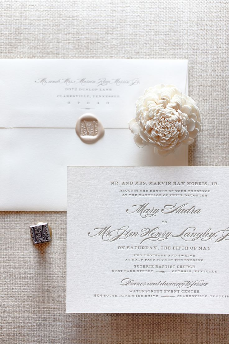 Letterpress Wedding Invitation | Letterpress Wedding Stationary ...