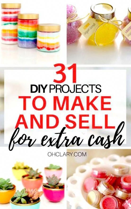 Crafts to Make and Sell on Etsy to make extra money from home. 30+ Popular DIY crafts to make and sell easy and unique ideas for projects you can make using cheap Dollar Store items and sell them for a profit. #craftstomakeandsell