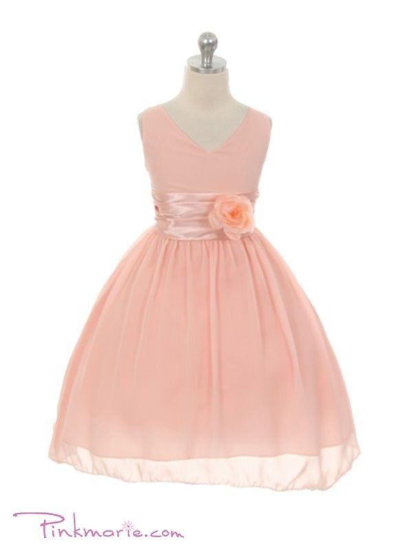 Blush Pink Yoru Chiffon Flower Girl Dress | BParty | Pinterest