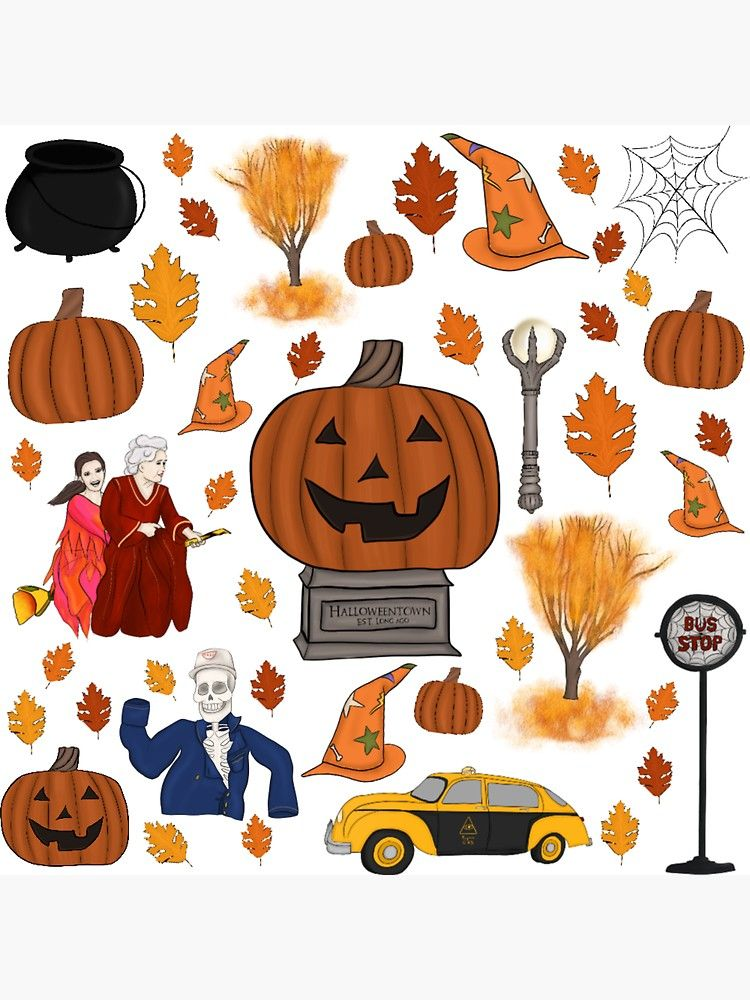 Halloween Town 2020 Halloweentown Est. Long Ago' Sticker by AutumnFirstBabe in 2020