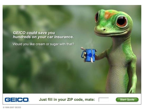 Geico Quote New Geico Web Ad Fill In Zip Code For Quote  Compelling Branding.