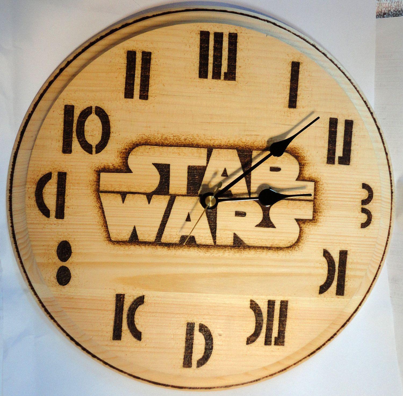 Star wars clock wood burning via etsy star wars