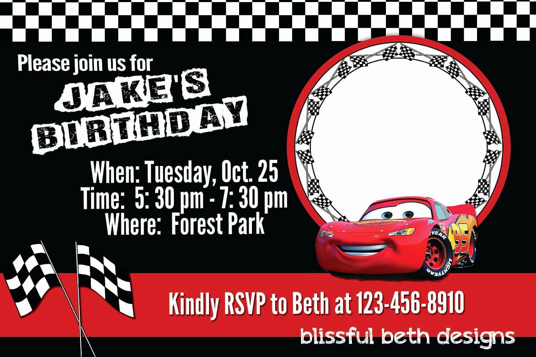 cars invitation template free luxury