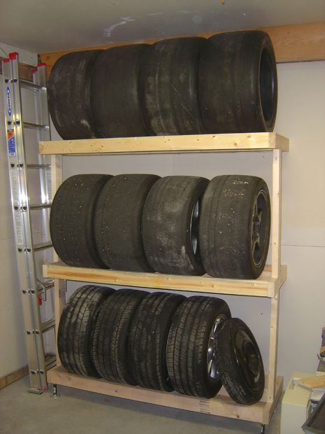 How To Build A Tire Rack Tire Storage Garage Organisation Tire
