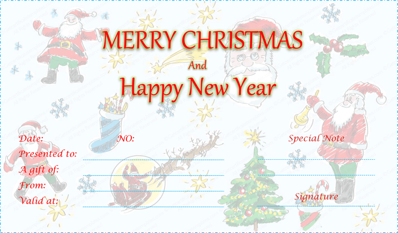 Double Eve Christmas Gift Certificate Template Christmas Gift Certificate Template Christmas Gift Certificate Gift Certificate Template