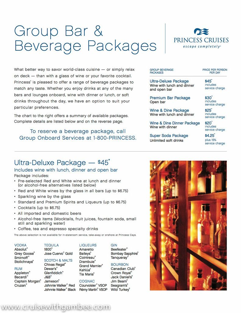 Princess Cruise Drink Packages Counting The Days