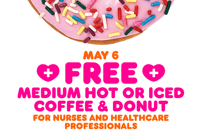 Mama Be Frugal FREE Dunkin' Coffee & Donut for Healthcare