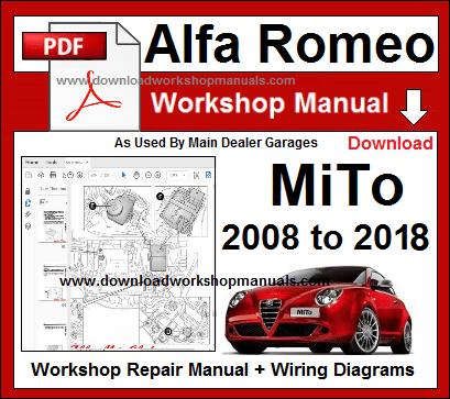 Alfa Romeo Mito Workshop Manual Download Alfa Romeo Alfa Romeo Mito Mito
