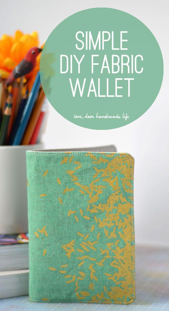 Simple Diy Fabric Wallet Dear Handmade Life Diy Wallet Easy Diy Wallet No Sew Diy Wallet