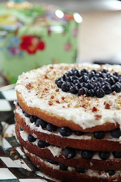 Pioneer Woman Italian Cream Cake With Blueberries