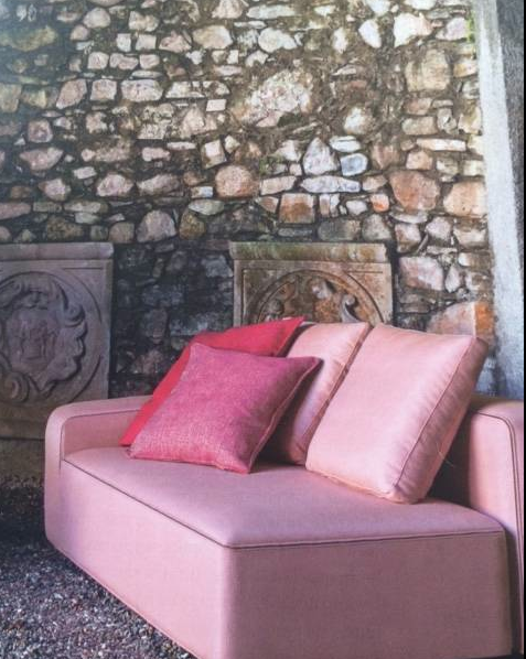 I want this..Out Door Couch ..Roda.. Pink… #MoodBoard #Stuff ...