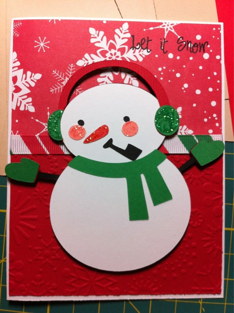 Adorable card Craft Ideas Pinterest Nieve, Sellos y Navidad