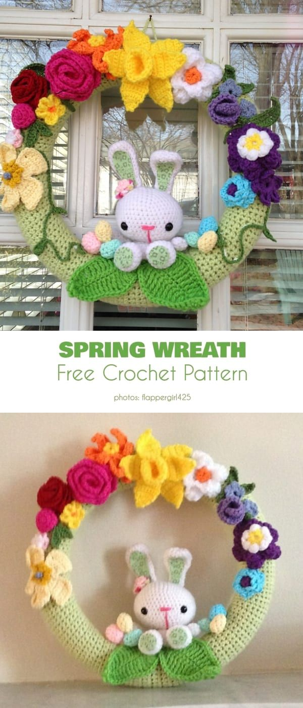 Photo of Spring Wreath Free Crochet Patterns