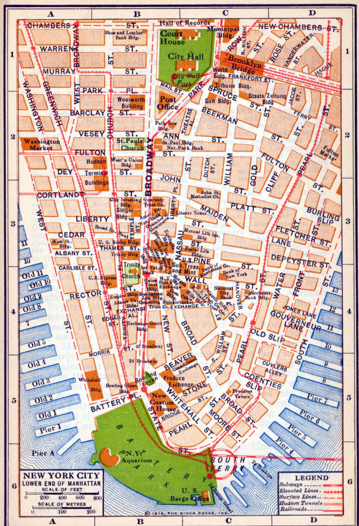 Map Of Lower End Manhattan Map New York City New York United - Lower manhattan us map
