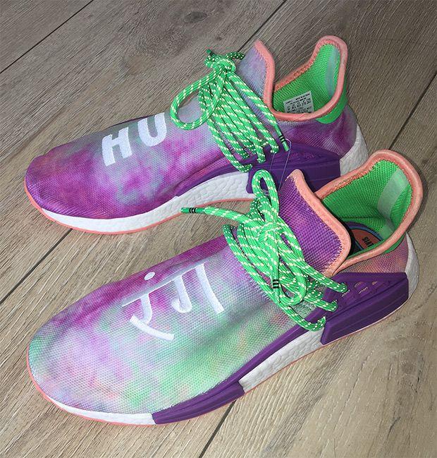 Pharrell Adidas Nmd Hu Tie Dye Color Ac7034 Human Race Shoes