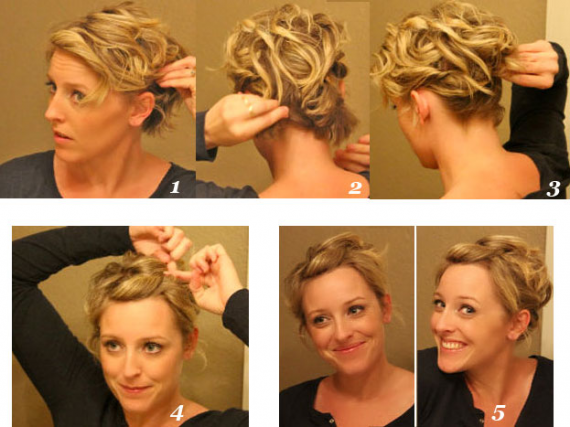 Easy Updos For Short Hair To Do Yourself Hair Styles Short Hair Updo Short Hair Up