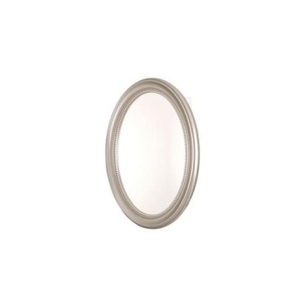 Pegasus Sp4593 Oval Deco Framed Medicine Cabinet Brushed Nickel