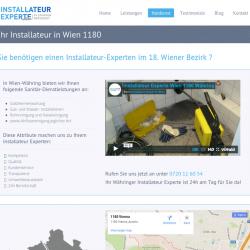 Sie benötigen einen Installateur-Experten im 18. Wiener Bezirk ?  Egal ob Ihre Heizung ausgefallen ist, Ihr Abfluss verstopft ist oder Sie Probleme m