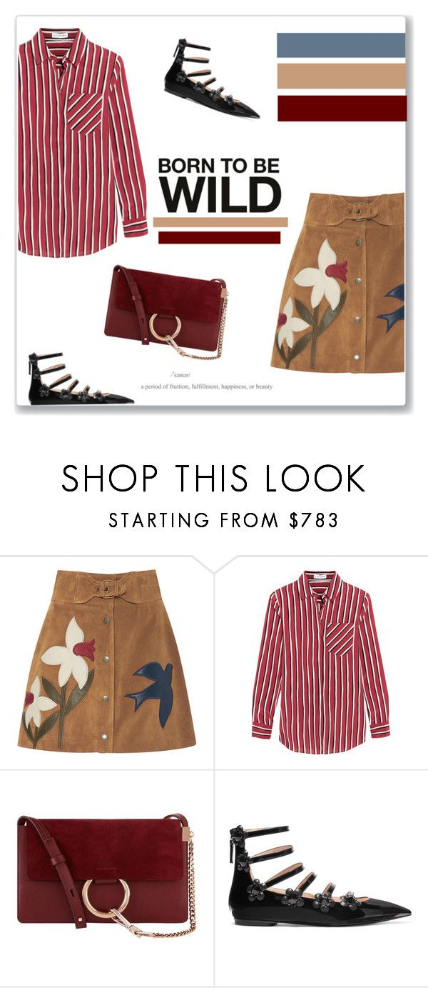"""Marine Layer: Striped Shirts <3"" by aryana-280 ❤ liked on Polyvore featuring RED Valentino, Altuzarra, Chloé, Fendi, fendi, polyvoreeditorial, RedValentino and stripedshirt"