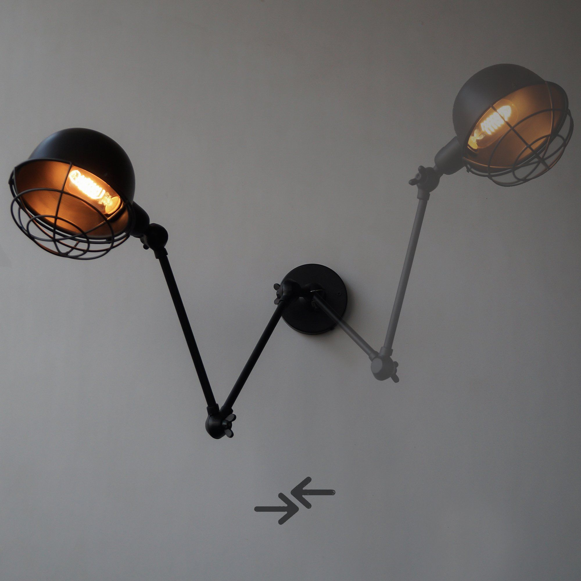 Retro Vintage Swing Arm Wall Sconce