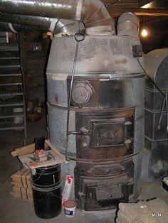We Had An Old Coal Burning Furnace Similar To This Furnace Hidden Passage Coal Furnace