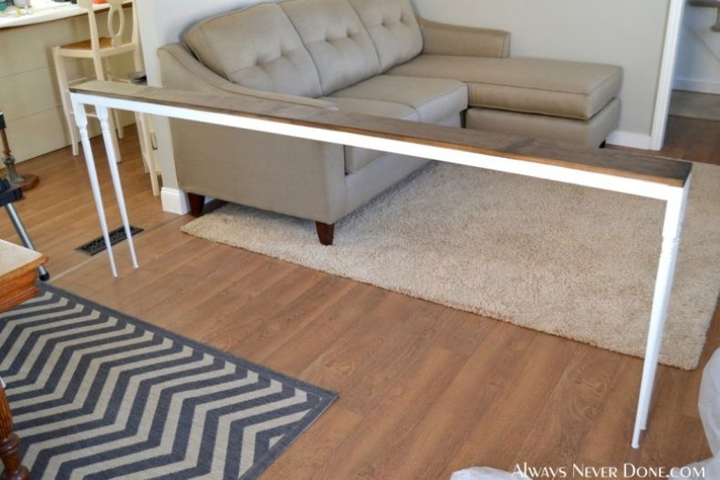 Long Thin Table Behind Couch