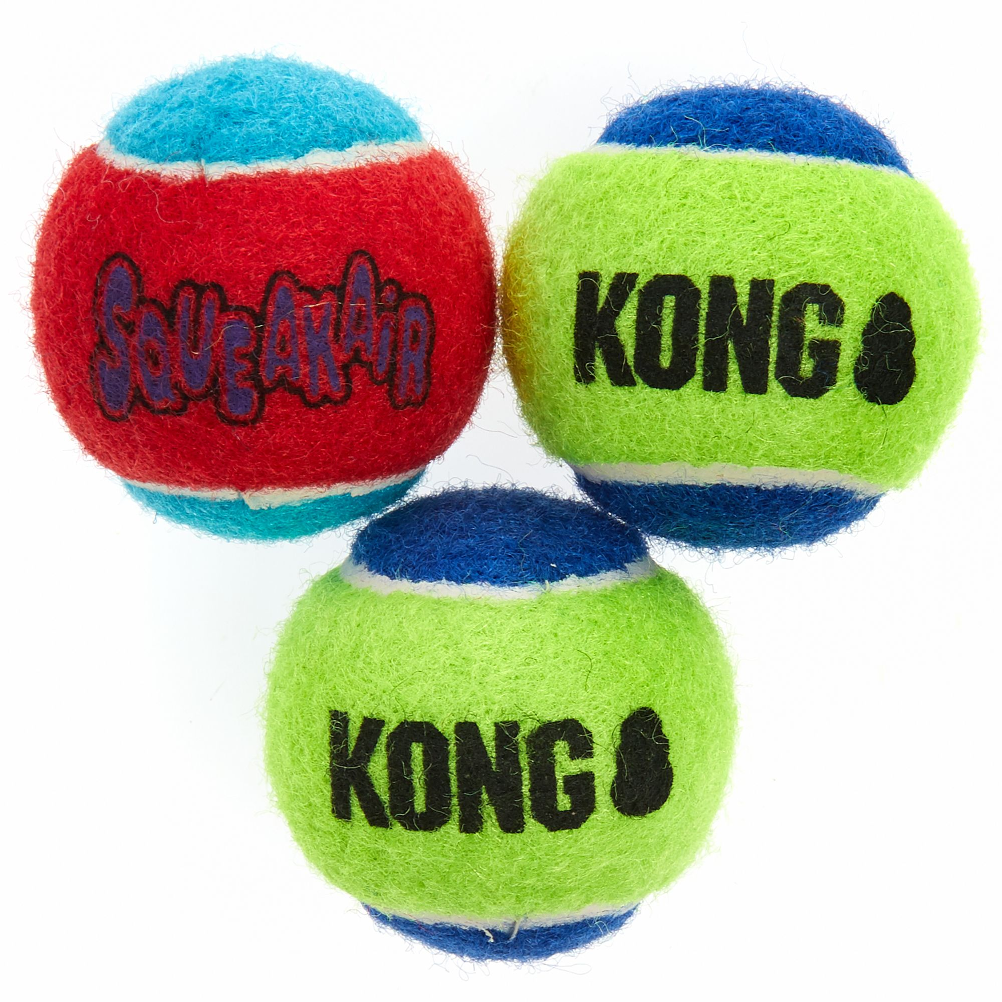 Kong SqueakAir Tennis Balls Dog Toy 3 Pack size Small