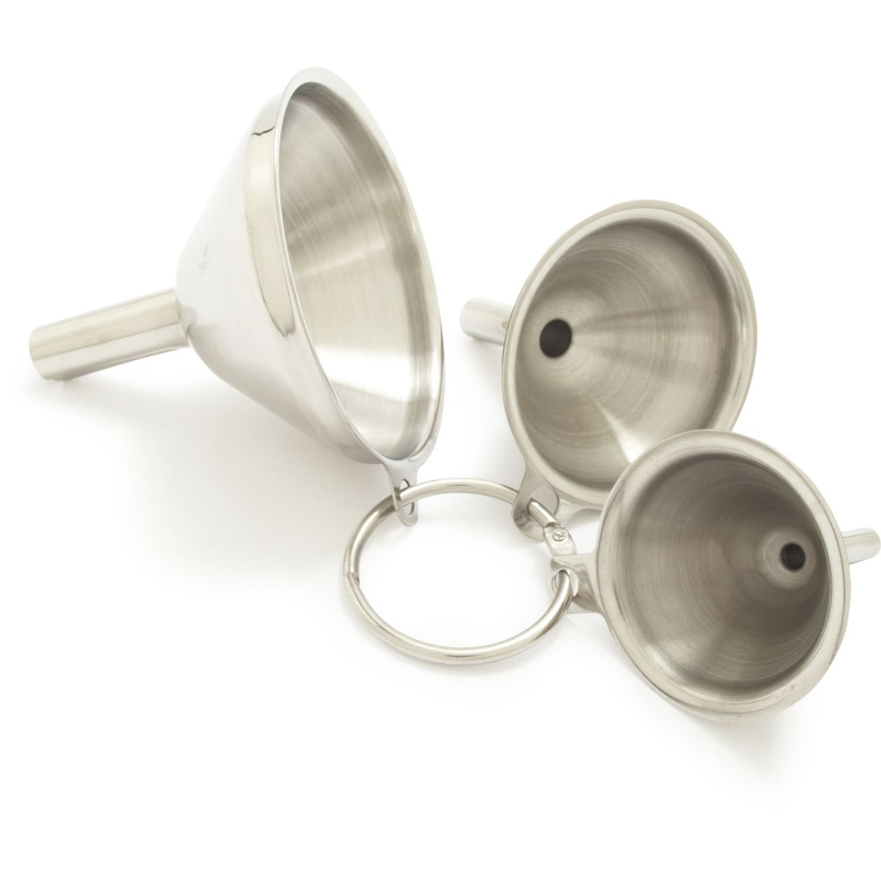 Stainless Steel Mini Funnels, Set of 3 | Stainless steel, Steel and ...