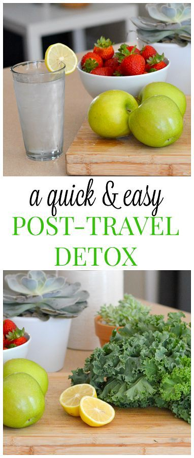 A QUICK AND EASY POST TRAVEL DETOX