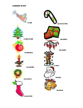 French Christmas Vocabulary | FRENCH SIGHT WORDS ( VIDEOS ...