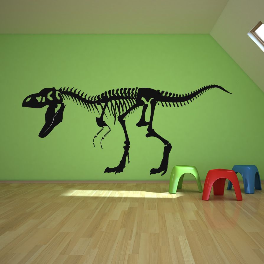 Dinosaur Wall Decor skeleton t rex dinosaurs wall decals | home decor | pinterest