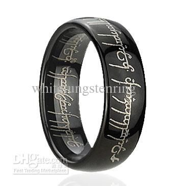 Wedding Bands For Men Dome Black Magic Tungsten Rings Engagement