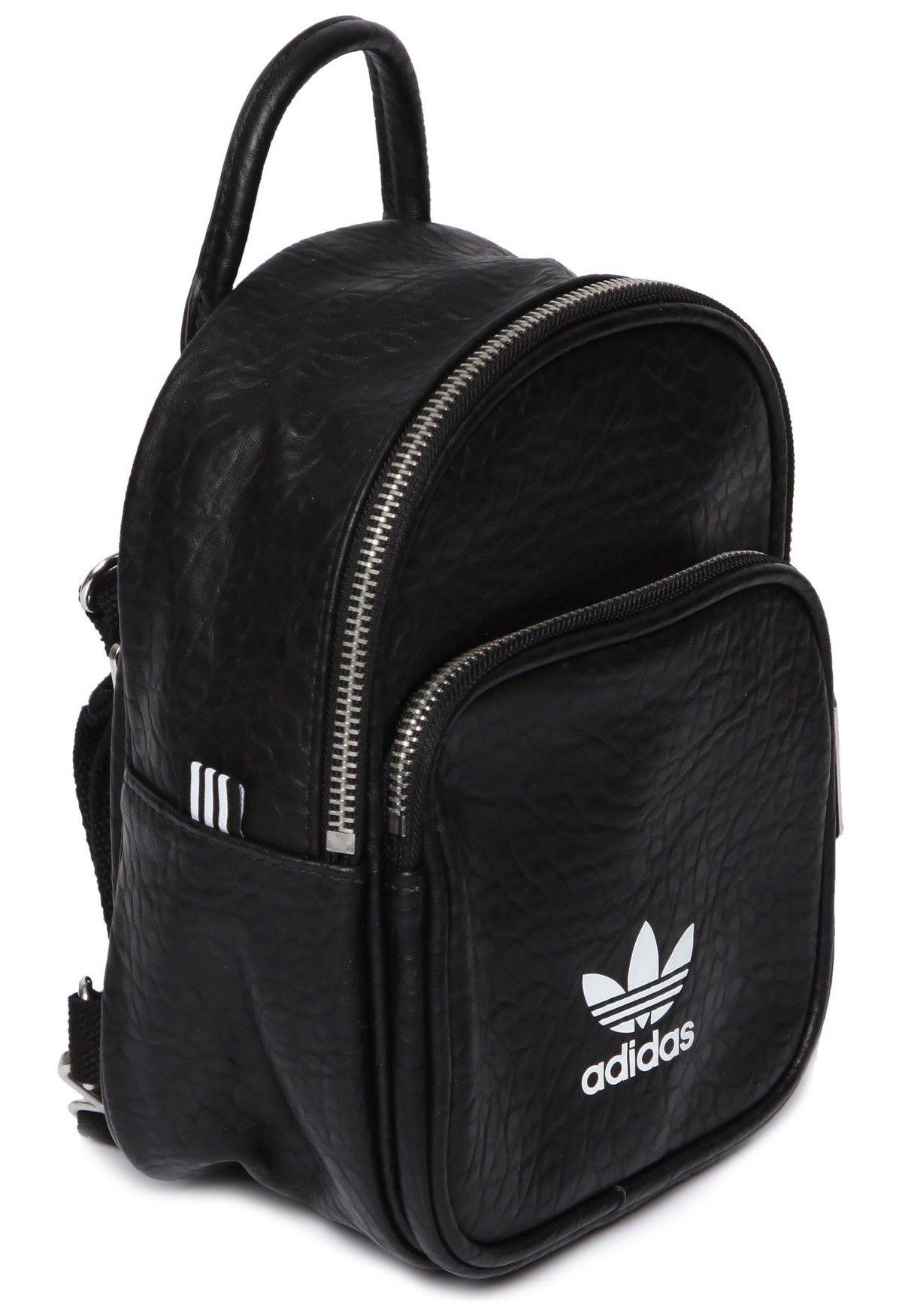 7d657e18b Adidas Originals - MOCHILA MINI CLASSIC - PRETO - OQVestir | Genți ...
