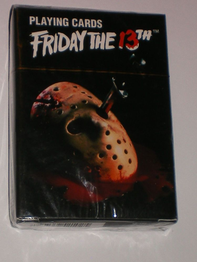 Friday the 13th Playing Card Cast Poker Card Game New Licensed 52319