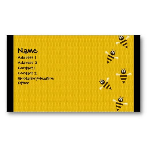 Bizzy Bees Business Cards