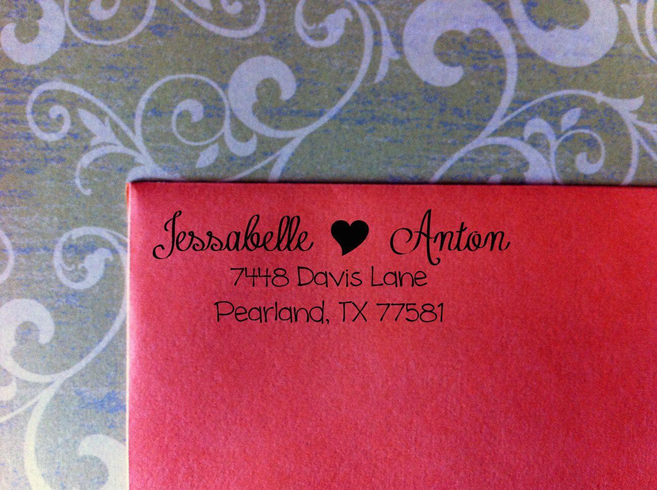 CUSTOM Calligraphy Return Address Stamp - Great for Housewarming ...