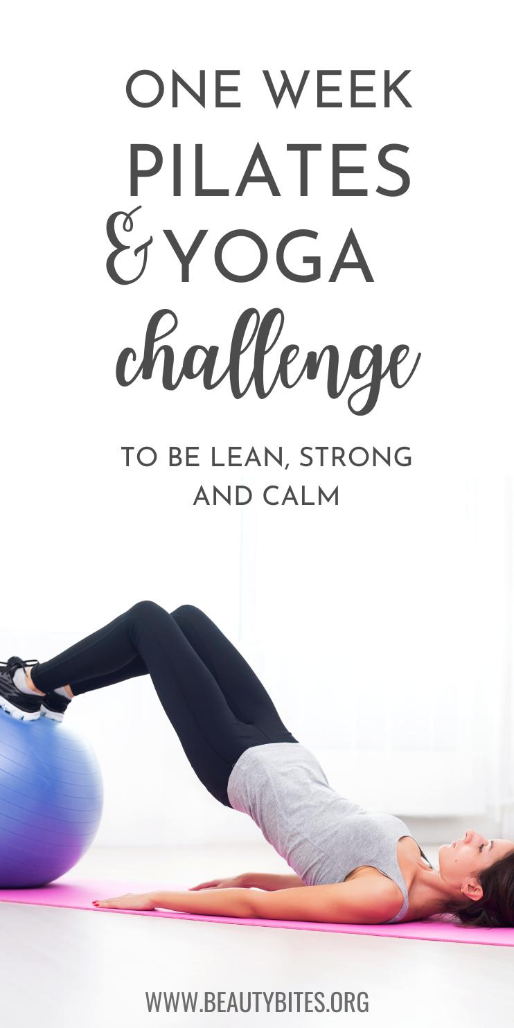 7-Day Yoga Pilates Workout Plan - Beauty Bites